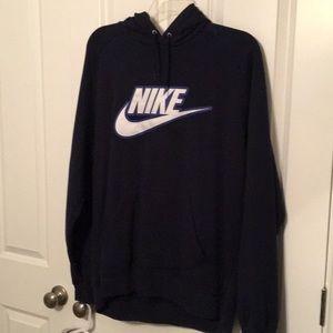 EUC, XL Nike Navy Blue hoodie